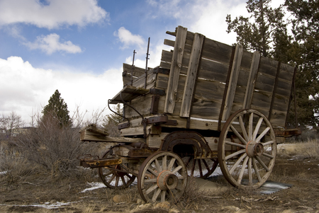 Old West Wagon Imagens