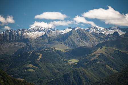 Guzet mountain landscape in the Pyrenees