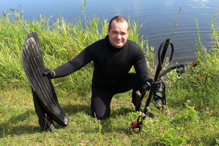 Spearfishing.
