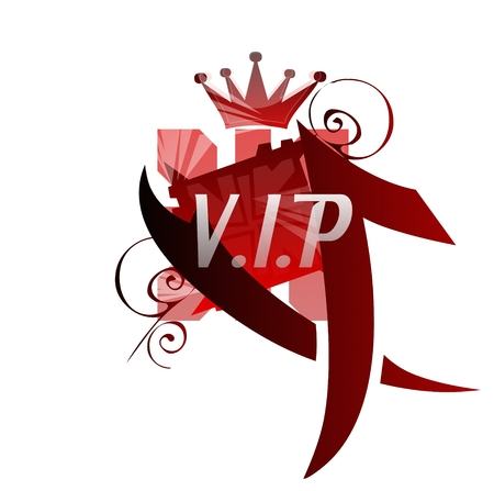 VIP logo in red color Stock Photo