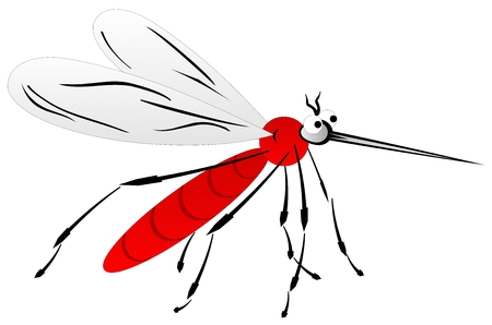 Funny mosquitoes. Cartoon.