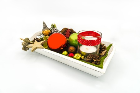 White Christmas serving tray on a white background