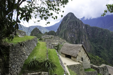 Landscape view of Machu Picchu the Lost City of the Incas