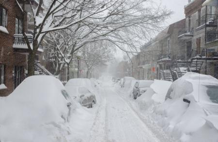 2012 年 12 月雪の世紀、モントリオールの嵐 写真素材