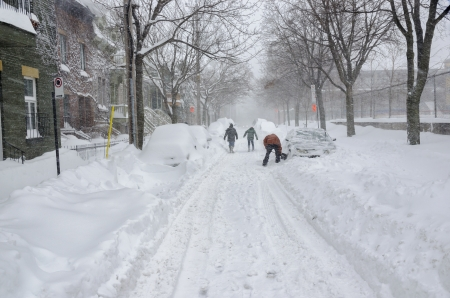 December 2012 Snow Storm of the Century, Montreal Stock Photo - 18699282
