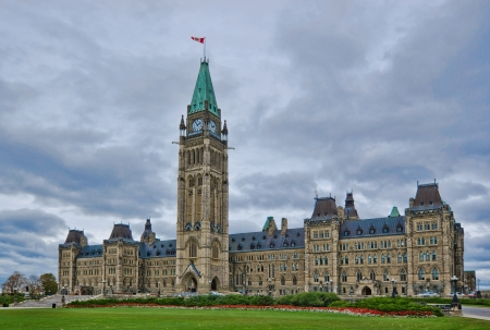 Parliament of Canada on Parliament Hill, on Ottawa photo