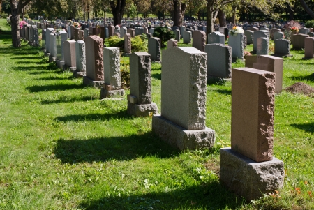 Gravestones in Montreal Cemetery photo