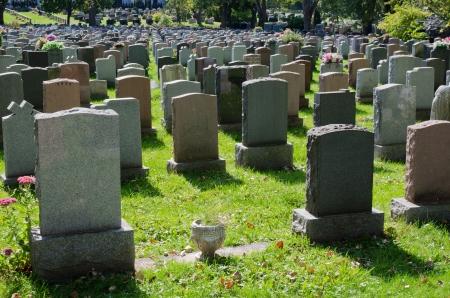 Gravestones in Montreal Cemetery