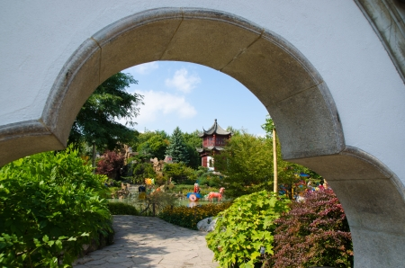 Chinese garden in Montreal Botanic Garden photo