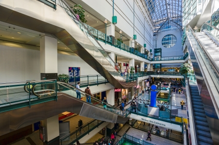 Horizontal picture of Eaton Center, the main mall in Montreal