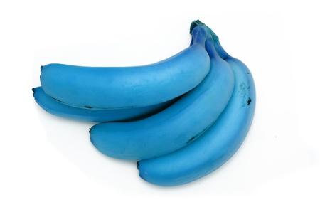 genetically: Genetically modified blue bananas Stock Photo
