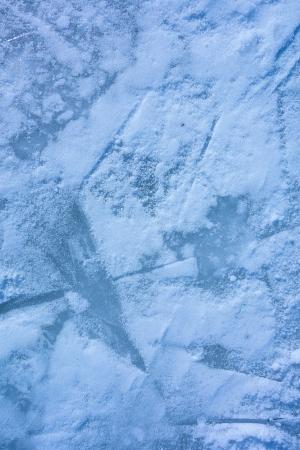 ice texture on outdoor rink photo