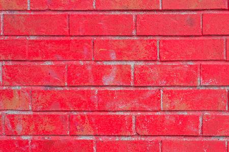 colorido: Pared de ladrillo rojo  Foto de archivo
