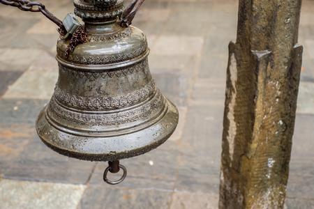 Ancient bell in Kathmandu, Nepal Stock Photo