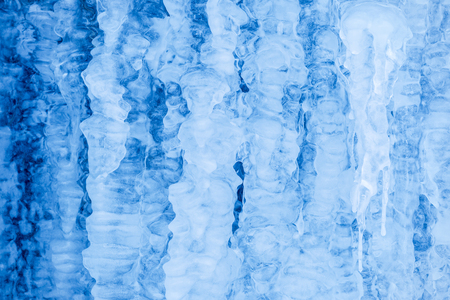 aggregation: Close-up of an ice formations made of the aggregation of several icicles