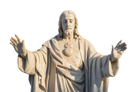 白い背景に分離されたイエス ・ キリスト像