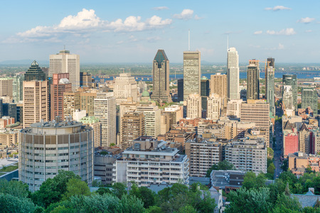 Montreal city skyline from Mont-Royal lookout