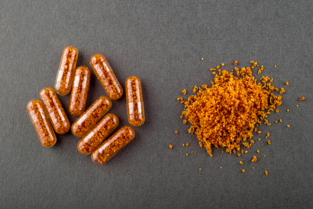 fecal: Fecal transplant pills (artistic rendering)