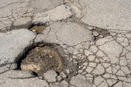 Bache profundo en la calle de Montreal, Canadá.