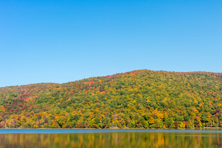 vibrance: Hertel Lake in Quebec, Canada, with Autumn colors