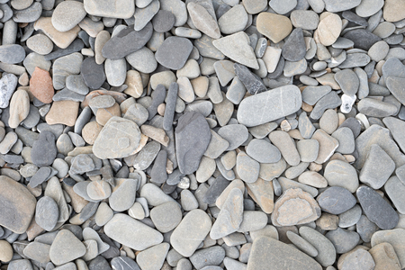 pebles: Texture of small stones and pebbles on Quebec beach Stock Photo