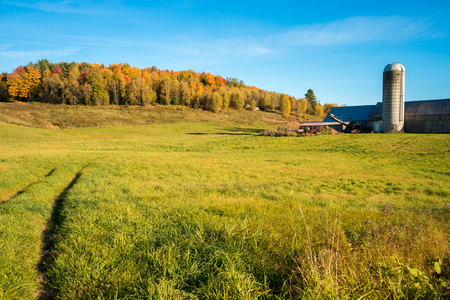 Quebec countryside in Autumn, near Saint-Jerome, Laurentides.