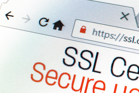 SSL 接続時に Https url アドレスと錠前の記号