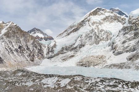 Khumbu Glacier and Everest Base Camp In Nepal