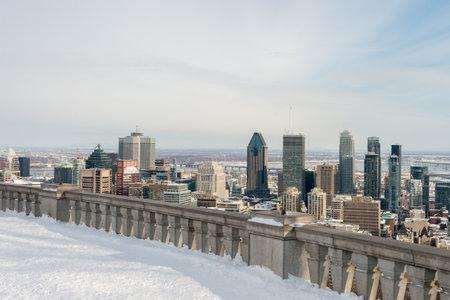 Montreal Skyline from Kondiaronk Belvedere  Mont-Royal in Winter (2017)