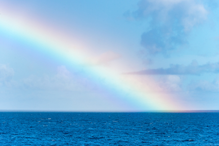 Rainbow over the Caribbean Sea in Martinique Banco de Imagens