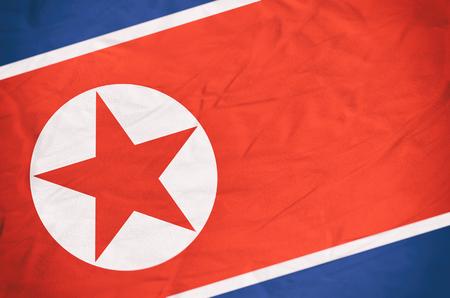 North Korea Flag - 3D rendered image.