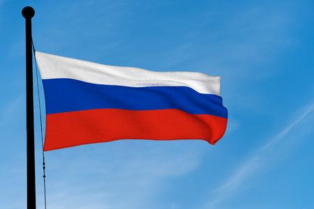 Russia Flag waving over blue sky (digitally generated image) Reklamní fotografie