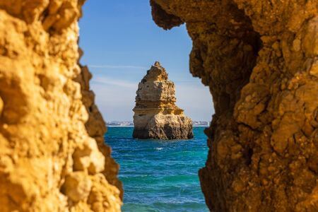 Cliffs at Praia do Camilo, Lagos, Portugal