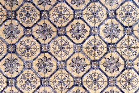 Traditional portuguese decorative tiles azulejos in Lisbon