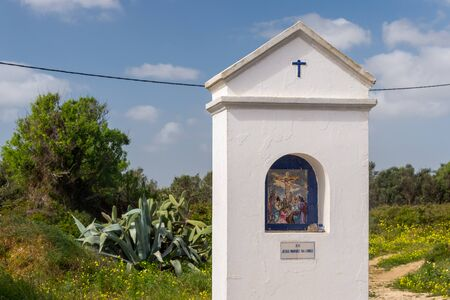 Religious shrine on the road to Ponta da Piedade, Lagos, Portugal