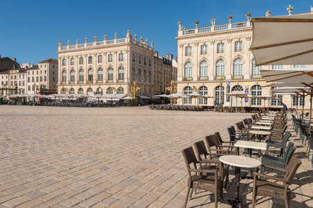Nancy, France - 21 June 2018: Place Stanislas square in the morning.