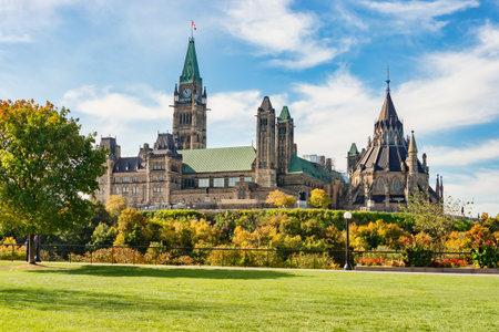 Canadian Parliament Building in Ottawa, in the Autumn season. Editorial