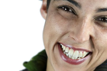 Close up of a smiling girl�s face. Stock Photo