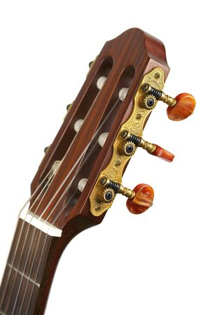 Guitar arm and pegbox. Stock Photo