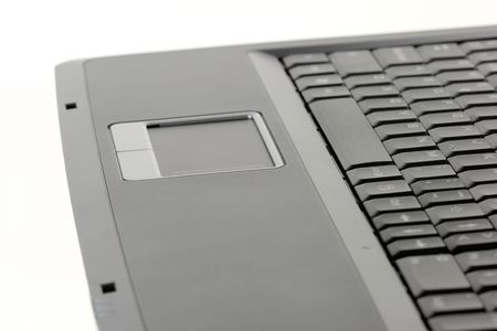 A laptop computer isolated on a white background Stock Photo