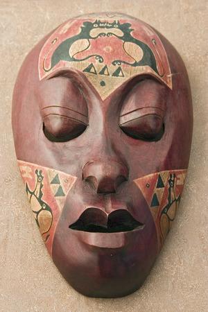 wooden african mask Stock Photo