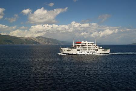 Ferry on the Adriatic sea Editorial
