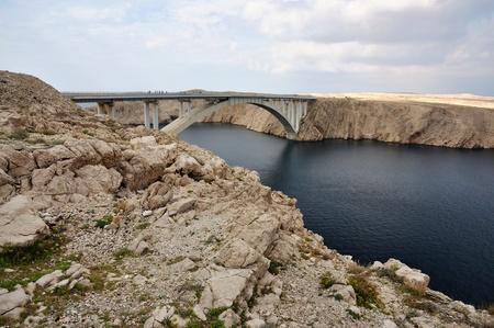 Bridge of the island of Pag photo