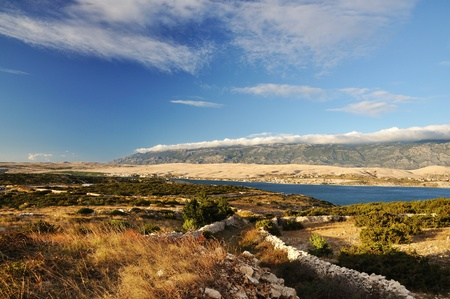 Landscape on Pag Stock Photo