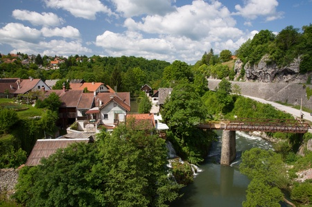 Village Rastoke Stock Photo