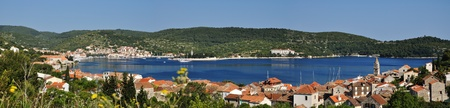 Panorama of the town of Vis Stock Photo