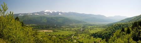 Spring panorama photo