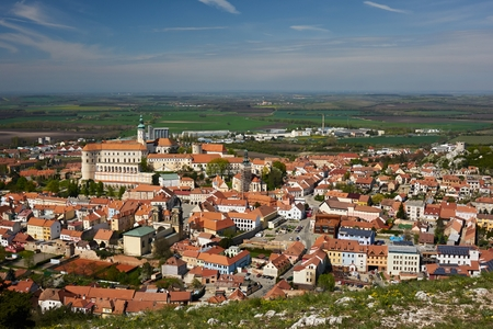 The town of Mikulov, Czech republic