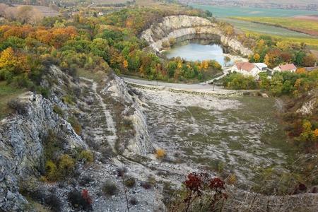 Beautiful view of autumn quarry