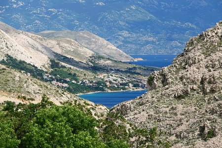 Landscape on the island of Krk, Croatia, Europe Stock Photo